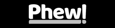 Phew Logo White Padded